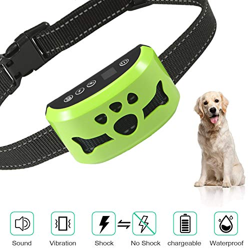 Dog No Bark Collar with Smart Detection Vibration and Harmless Shock- Rechargeable Anti Barking Device for Small Medium and Large Dog  (C165) (Best Smart Dog Collar)