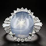 Na Na Nubngen Art Deco Style Oval Cut Moonstone Opal 925 Silver Antique Engagement Ring Sz6-10 by Siam panva (8)