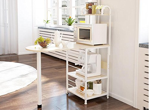 Microwave oven rack rack / shelves / kitchen racks: simple modern style ( Color : Beige ) by Shelf-xin