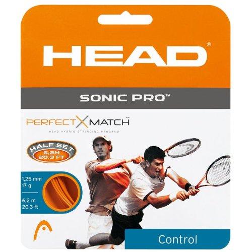 Head Sonic 17ゲージ オレンジ Pro - テニスストリング - 17ゲージ - オレンジ - 1ハーフセット B002AQ73TS, もっきり屋:f54b5a65 --- cgt-tbc.fr