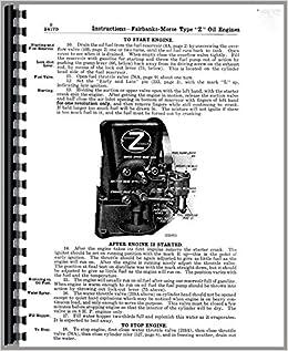 Heavy Equipment Manuals & Books Fairbanks Morse Z 3 & 6 HP Hit ...
