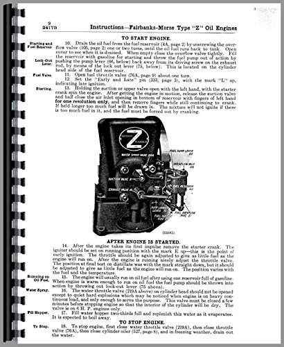 Used, Operators Manual Fairbanks Morse Type Z Hit & Miss for sale  Delivered anywhere in Canada