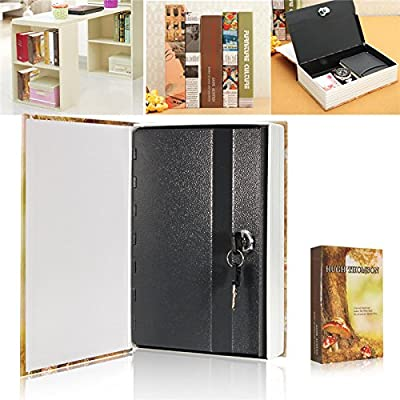 Dictionary Book Hidden Safe Home Security Box With Lock And Key Enveloped In Faux Pages Protect Your Valuables This Clever Safe.