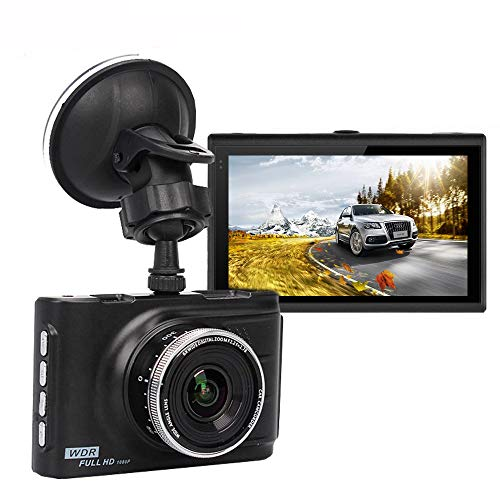 Dash Cam, UNITOPSCI Full HD 1080P Dash Camera for Cars with 3-inch LCD Screen, 170 degree Wide Angle, Loop Recording, G-sensor