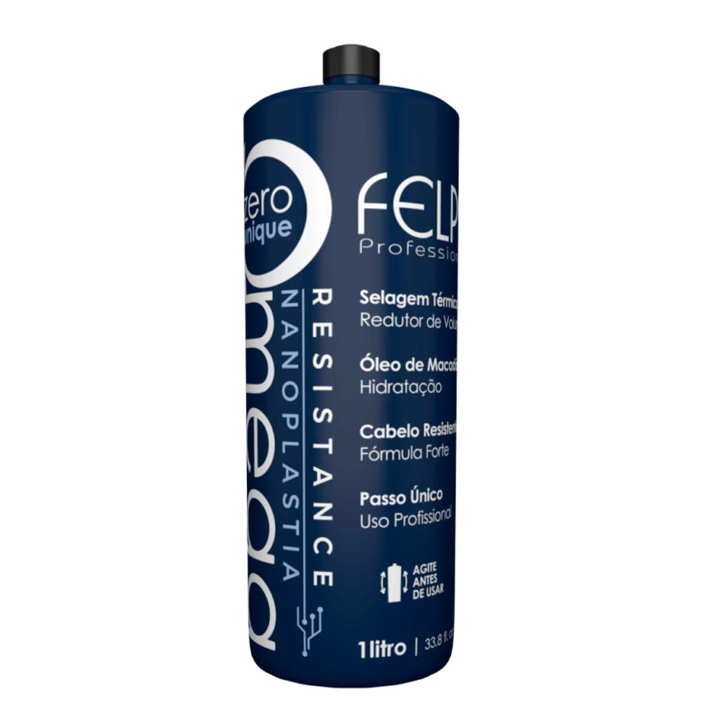 Felps Professional Omega - Thermal Sealing and Zero Unique Nanoplasty - Straightening & Smoothing Hair Treatment - Amino & Tenino Acids - For All Hair Types - 1L/33. 81fl.oz