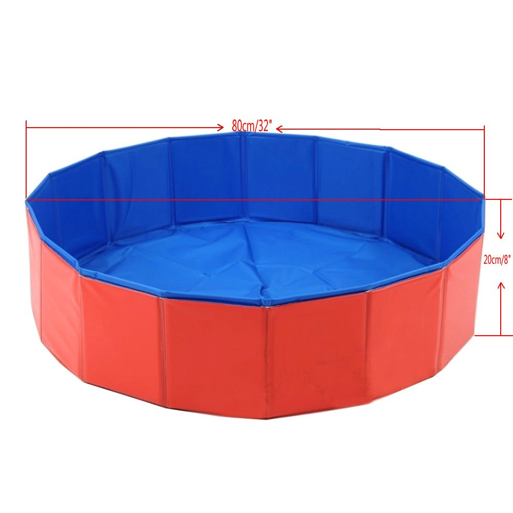 Amazon.com: Lalawow SO COOL Foldable Pet Swimming Pool Bathing Tub ...