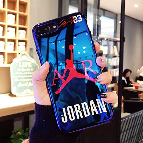 pretty nice e0459 4c346 iPhone 7/8 Plus Case. Hot Fashion Fly Man Jordan 23 Blu-ray Soft Silicon  Cover Case for iPhone 7/8 Plus Phone Cases Coque Capa.