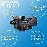 Hayward W3SP3202VSP Pool Pump, 1.85 HP, Black