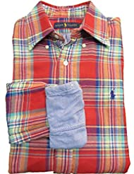 Polo Ralph Lauren Double-Faced Plaid Shirt Men's (Large, Red/Green)