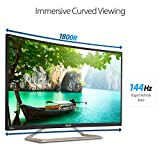 "ASUS Curved 31.5"" Full HD 1080P 144Hz HDMI VGA DVI Eye Care Monitor 31.5-Inch Screen LED-lit Monitor (VA326H)"
