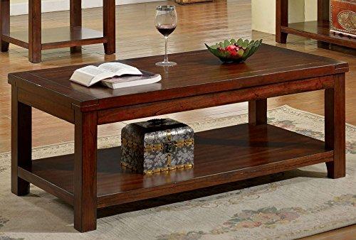 247SHOPATHOME IDF-4107C Coffee-Tables, Cherry For Sale