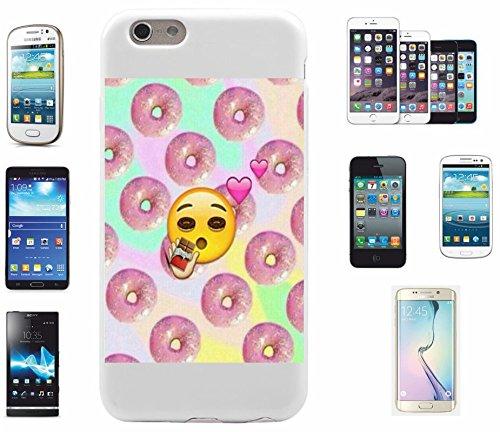 """Smartphone Case Apple IPhone 7+ Plus """"Donut Emoji mit großen Augen und vielen Donuts """", der wohl schönste Smartphone Schutz aller Zeiten."""