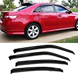 06 dodge charger window tint - VioGi 4pcs Smoke Tint Reinforced Acrylic Sun Rain Guard Vent Shade Window Visors For 06-10 Dodge Charger