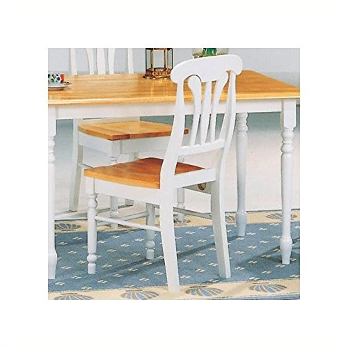 Coaster Home Furnishings 4222 Country Dining Chair, Natural and White, Set of 2