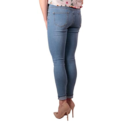Primtex Jean Femme bleu clair skinny stretch taille haute effet Jean skinny  gainant-42  Amazon.fr  Vêtements et accessoires 21afb5e3dd55