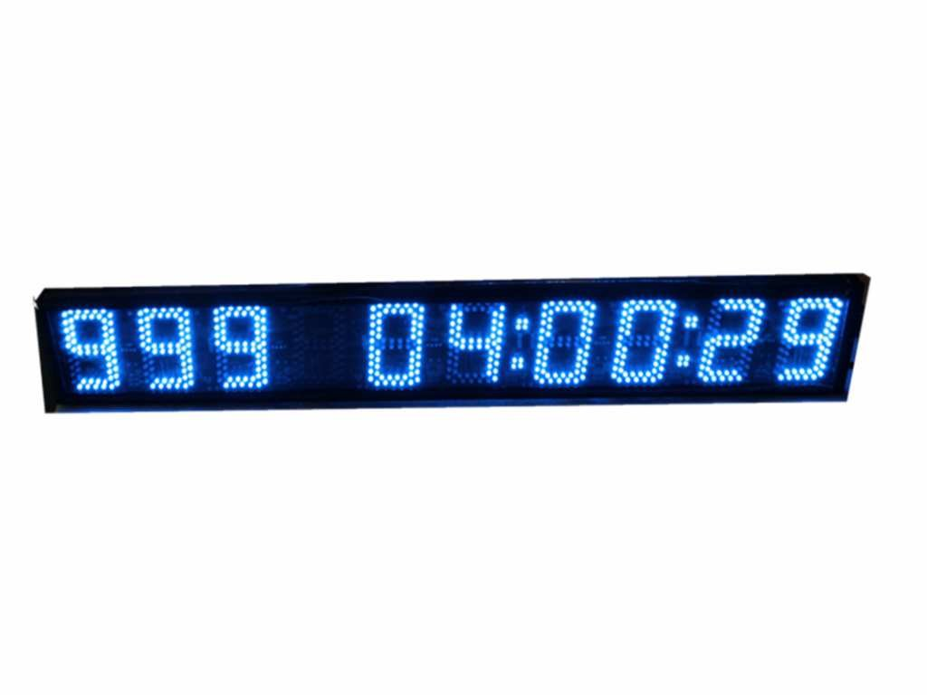 AZOOU Large 5-inch 9 Digits LED Days Countdown/up Clock Days Event Timer For Race Games With IR Remote Control Blue Color