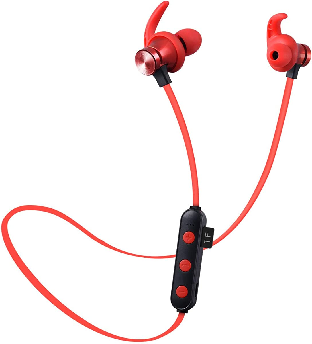 Youyababay Auricular Deportivo inalámbrico Auricular magnético V4.2 Blue-Tooth Auricular Banda para el Cuello Colgando Auriculares estéreo