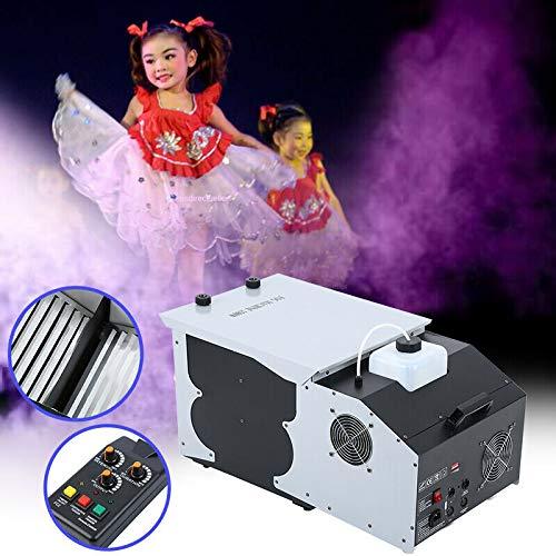 Ridgeyard 2.5L 1500W Low Laying Effect Smoke Fog Machine DMX 512 Wireless Remote Control Stage Ground Fogger for Wedding Disco Party Show With 2 Wheels -