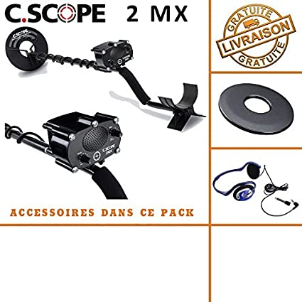 C-scope. Detector de metales CS 2MX con protege disco y casco de audio