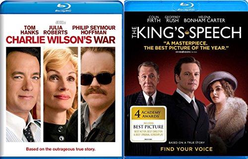 Charlie Wilson's War & The Kings Speech Blu Ray 2 Pack Movie Set