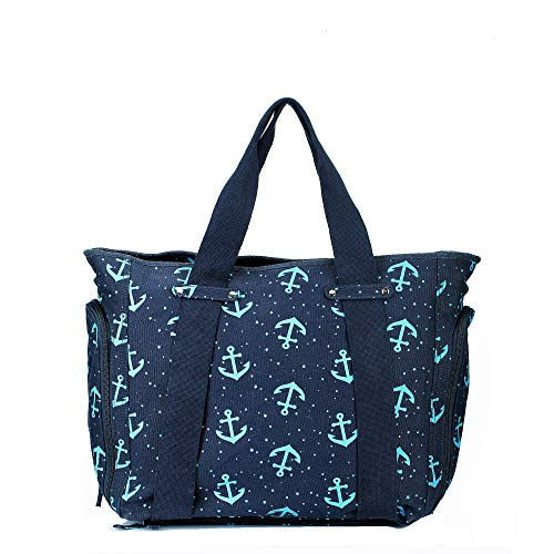 (Dezzio Belize Do It All Functional Beach Tote Travel Bag, Anchor Print)