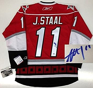 Signed Jordan Staal Jersey - Carolina Hurricanes Rbk Premier Coa - PSA DNA  Certified - 2db92110a
