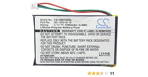 KML Battery for Garmin 361-00019-12 361-00019-16 Garmin Nuvi 1300 Nuvi 1350