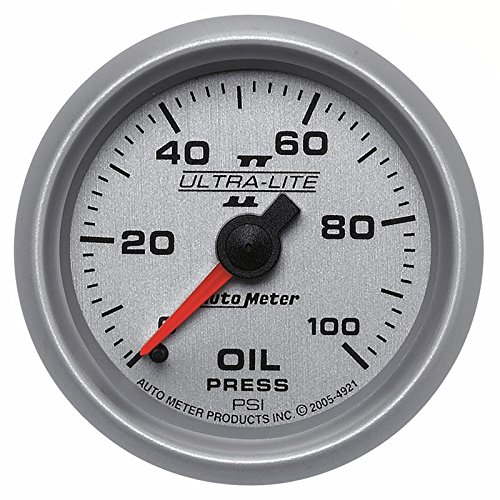 (Auto Meter Ultra-Lite Ii 52Mm 0-100 Psi Mechanical Oil Pressure Gauge By Jm Auto Racing (4921))
