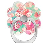 Pop Phone Ring Stand Holder 360°Rotation Reusable Ring Holder Finger Grip Universal socket Kickstand for All Cellphones Pink Retro Floral