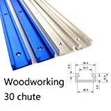 30 Type Aluminum T-Slot Miter Track T-Track T-Slot Miter Jig Tools Aluminium T-Tracks Miter Jig Fixture Slot for Woodworking Router,300-800MM T-Track 800mm