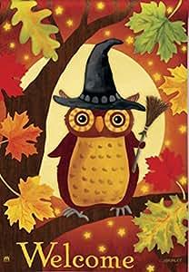 Halloween Owl Garden Flag Designed by Yerkes