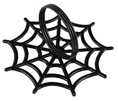 Juvale Halloween Napkin Rings - 6-Pack Black Spider Web Spooky Design Napkin Holder, Scary Costume Theme Party Supplies, Accessories, Lunch and Dinner Table Decoration by Juvale (Image #6)