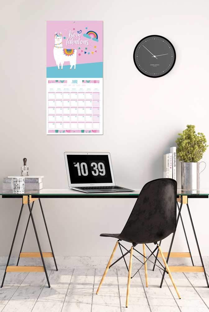 Calendario de pared 2020 Llamas incluye p/óster de regalo 30 x 30 cm ERIK