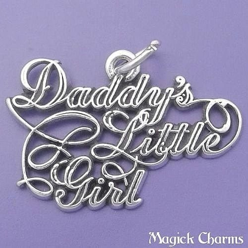 - Daddys Little Girl 925 Sterling Silver Charm Pendant Jewelry Making Supply, Pendant, Charms, Bracelet, DIY Crafting by Wholesale Charms