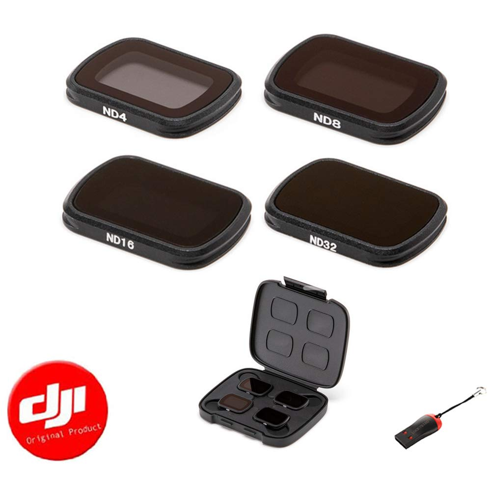 DJI OSMO Pocket ND4/ND/ND16/ND32 ND Filters Set with Luckybird USB Reader
