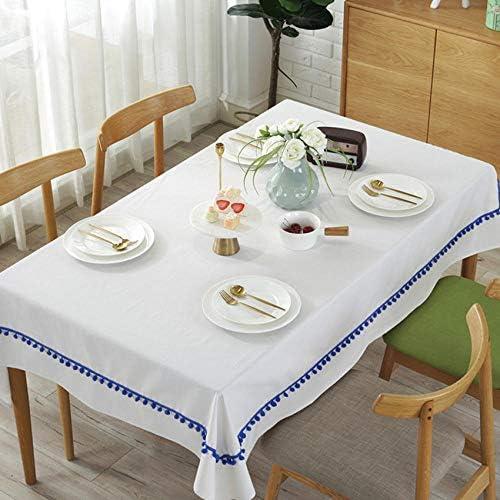 Rechteckige Tischdeckewasserdicht 3D Tischdeckereine Weiße Dicke Tischdecke Blue Ball Rechteckige Hochzeitstischdecke Kaffeetisch-60 * 60Cm_