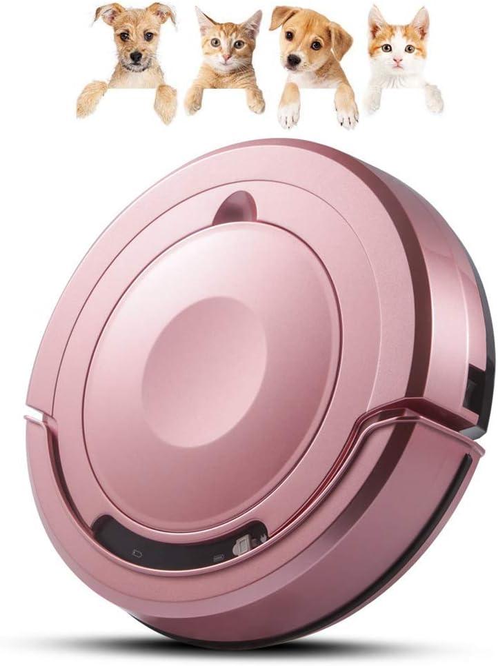 Tsundere Robot Aspirador 3 en 1, Barredora, con Sensores Anticaída,Aspira y Friega, Silenciosa, Aspiradora para Pisos, Alfombras y Pelos de Mascotas,Rosado: Amazon.es: Hogar