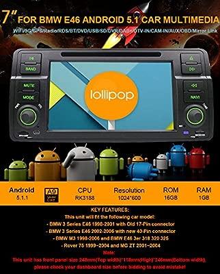7 inch Quad Core Android 5.1 Lollipop coche Radio estéreo Din para ...