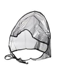 La Mart Rain Bonnet With Full Cut Visor & Netting - Available in Black or White