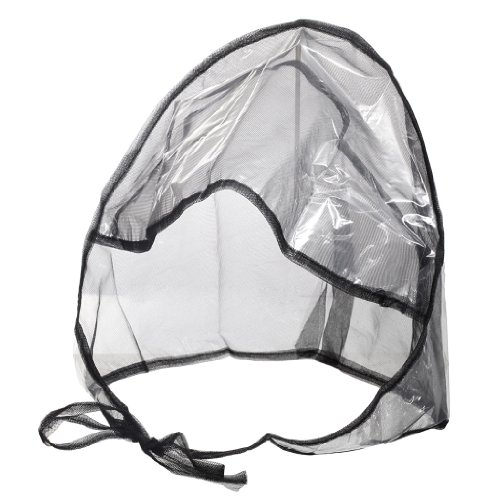 La Mart Rain Bonnet With Full Cut Visor & Netting - Available in Black or White