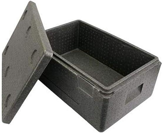 LIYANLCX - Caja de Espuma de poliestireno expandido portátil para frigoríficos y Calentadores (Capacidad de 34 L, con asa, para Camping, caravanas, Picnic y Festivales), Gris, (34L) EU: Amazon.es: Hogar