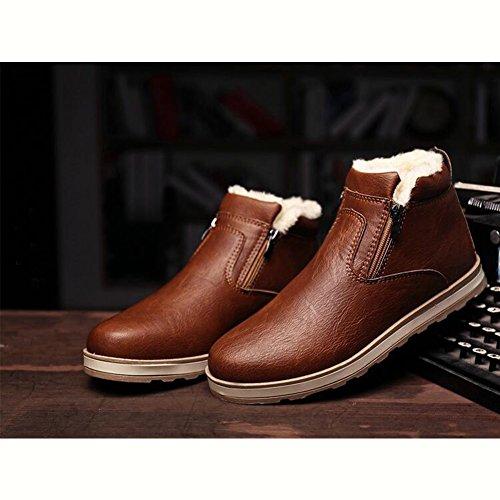 Stivali PU Marrone SGoodshoes Pelle sneakers Invernali Uomo Tooling Stivali scarpe in 5qOXqw