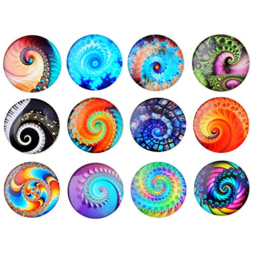 (NHW 12packs Heat cool design Refrigerator Magnets Innovative patterned magnet Whiteboard and Refrigerator magnet refrigerator stickers interesting magnet Kitchen office cabinet whiteboard)