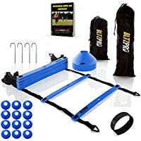 Bltzpro AGILITY LADDER with SOCCER CONES-A Fitness...