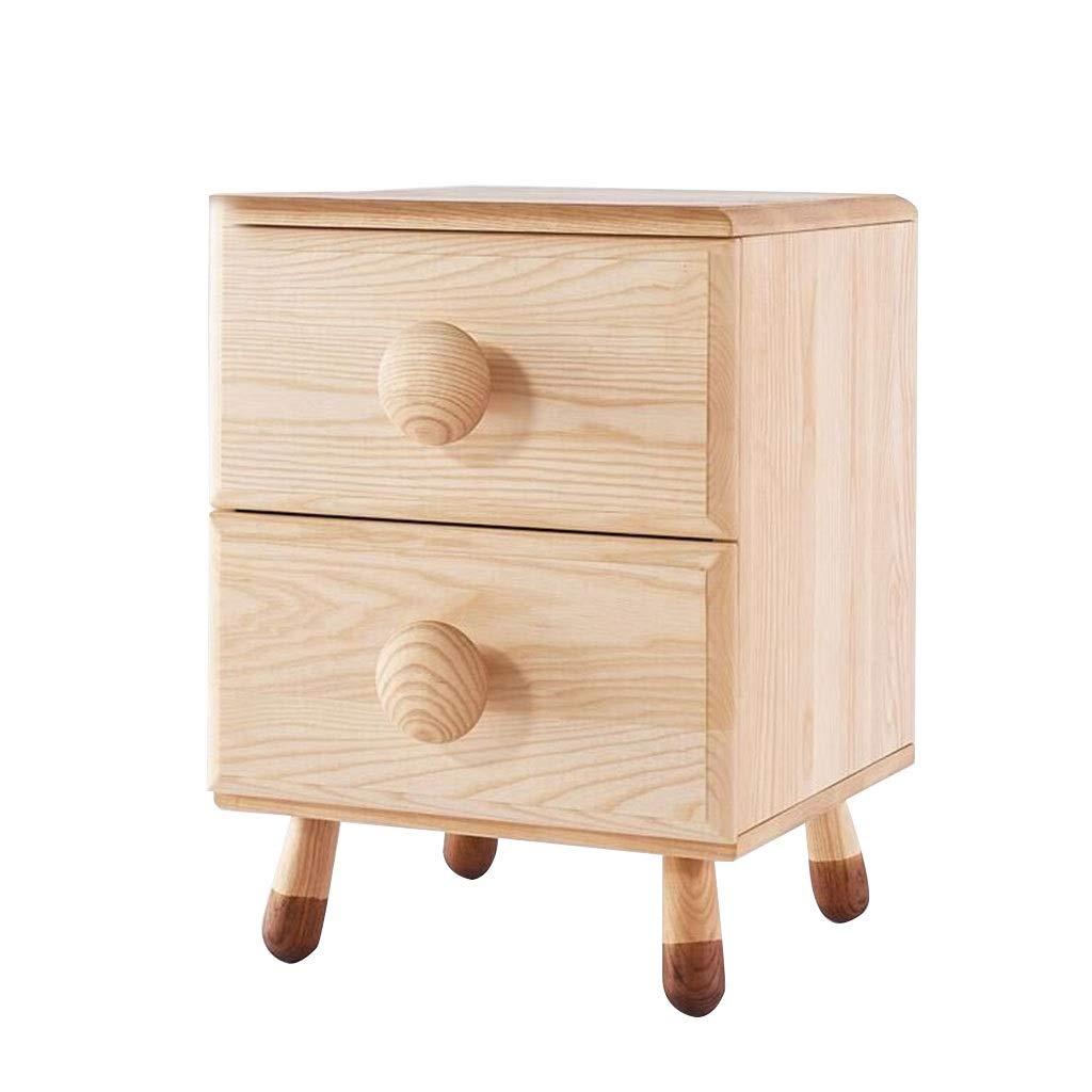 木製ホーム収納棚、2段ブックケースキューブ収納ユニット付き引き出しキャビネット自立型ファイルマネージャー用ホームリビングルームオフィスドキュメント収納ラック (色 : ナチュラル) B07NVW2F4D ナチュラル