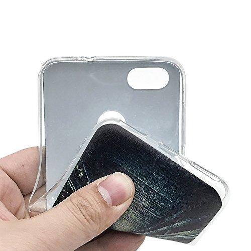 Funda Huawei Enjoy 7,EUDTH Suave TPU Gel Funda Case Delgado Silicona Fundas Carcasa Espalda para Huawei Enjoy 7 (5.0 Pulgadas) Algún día Cielo estrellado