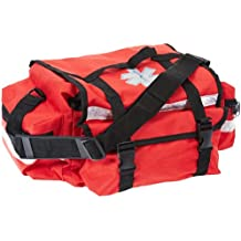 "Primacare KB-RO74-R Trauma Bag, 7"" Height x 17"" Width x 9"" Depth, Red"