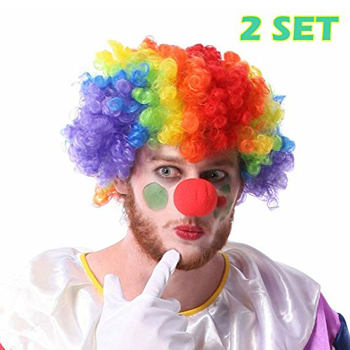 Man Costume Condom Halloween (LoveInUSA Clown Wig with Foam Clown Nose 2)