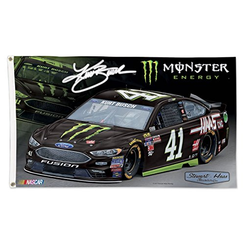 Kurt Busch NASCAR 3x5 Monster Energy Race Car 2017 (Nascar Busch Race)