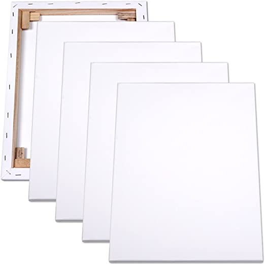 4er Pack Lienzos Bastidor de 50 x 70 cm marco de madera de cuña de ...